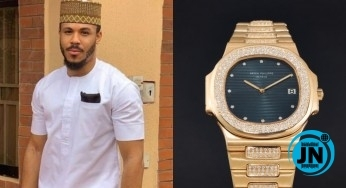 BBNaija ex housemate, Ozo receives a wristwatch gift worth millions of Naira from his fans